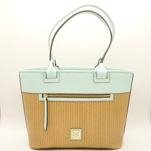 NWT DOONEY & Bourke Beacon Tote Pale Blue Leather
